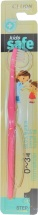 Зубная щетка CJ Lion Kids Safe с нано-серебряным покрытием №1, розовый