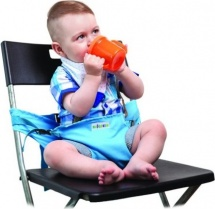 Мобильный стульчик для кормления 2 положения, голубой