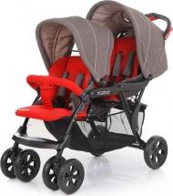 Коляска-трость для двойни Baby Care Tandem Grey/Red