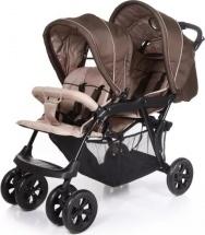 Коляска-трость для двойни Baby Care Tandem Brown/Grey