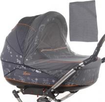 Москитная сетка Baby care Classic Plus для колясок-люлек, серый