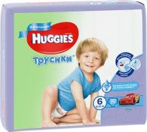 Трусики Huggies для мальчиков 6 (16-22 кг) 30 шт