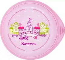 Тарелка Курносики Город, розовый 100 мл