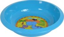 Тарелка Курносики Динозаврики для вторых блюд, голубой