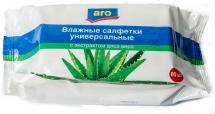 Салфетки влажные Aro с экстрактом алоэ вера 80 шт