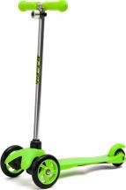 Самокат MobyKids №1 со светящимися колесами зеленый
