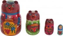 Матрешка Bambi Три медведя 4 фигурки