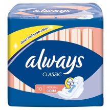 Прокладки женские Always Classic Normal 10 шт