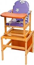 Стул-трансформер для кормления Октябренок Ромашки, фиолетовый