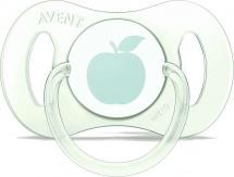Пустышка Avent Mini Яблочко силикон симметричная с 0 до 2 мес