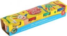 Краски пальчиковые Erich Krause ArtBerry с Алоэ Вера 4 цвета по 35мл