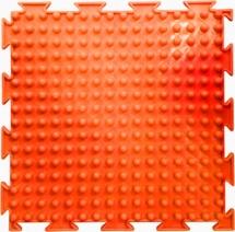 """Массажный коврик Орто """"Шипы"""" мягкий 25x25 см, флуоресцентный оранжевый"""