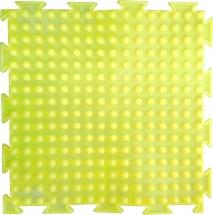 """Массажный коврик Орто """"Шипы"""" мягкий 25x25 см, флуоресцентный лимонный"""
