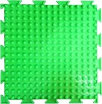 """Массажный коврик Орто """"Шипы"""" мягкий 25x25 см, флуоресцентный салатовый"""