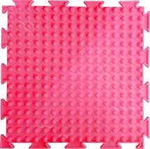 """Массажный коврик Орто """"Шипы"""" флуоресцентный мягкий 25x25 см, розовый"""