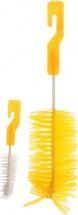 Ершик Пома для бутылочек и сосок, желтый 2 шт