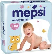 Подгузники Mepsi S (4-9 кг) 82 шт