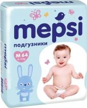 Подгузники Mepsi M (6-11 кг) 64 шт