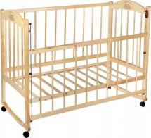 Кроватка Заюшка с автоспинкой, светлый