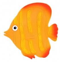 Мини-коврик Valiant Рыба, оранжевый