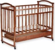 Кроватка Агат Золушка-2 колесо-качалка с ящиком, орех