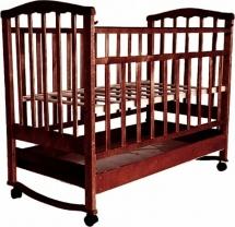 Кроватка Агат Золушка-2 колесо-качалка с ящиком, вишня