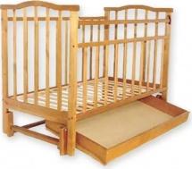 Кроватка Агат Золушка-6 маятник продольный с ящиком, светлый