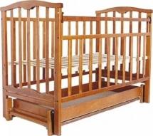 Кроватка Агат Золушка-6 маятник продольный с ящиком, орех