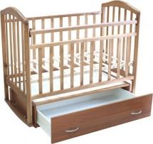 Кроватка Антел Алита № 4 с поперечным маятником и ящиком, орех