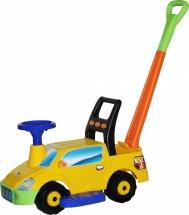 Машинка-каталка Полесье Пикап с ручкой (с гудком), желтый