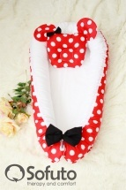 Кокон-гнездышко Sofuto Babynest Minnie red