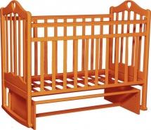 Кроватка Антел Каролина № 3 с поперечным маятником и автоспинкой, орех