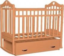 Кроватка Антел Каролина № 4 поперечный маятник, автоспинка и ящик, бук