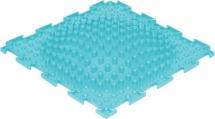 Массажный коврик Орто Островок мягкий 25x25 см, бирюзовый