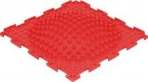 Массажный коврик Орто Островок мягкий 25x25 см, красный