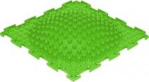 Массажный коврик Орто Островок мягкий 25x25 см, салатовый