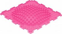 Массажный коврик Орто Островок жесткий 25x25 см, розовый