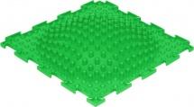 Массажный коврик Орто Островок жесткий 25x25 см, зеленый