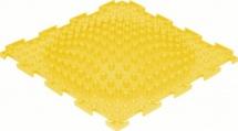 Массажный коврик Орто Островок жесткий 25x25 см, желтый