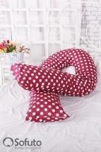 Подушка для беременных Sofuto UComfot Polka dark chocolate