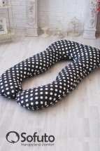 Подушка для беременных Sofuto UAnatomic Polka dot black