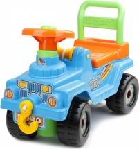 Машинка-каталка Полесье Джип 4х4 с гудком, голубой