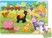 Мягкие пазлы Vladi Toys Ферма 24 эл