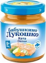 Пюре Бабушкино лукошко Кета-Овощи с 8 мес 100 г
