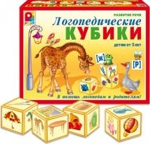 Настольная игра Радуга Кубики логопедические