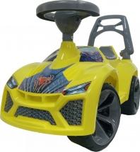 Машина-каталка Орион Ламбо Паук, желтый (гудок)