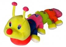 Мягкая игрушка TashaToys Гусеница 60 см