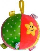 Мягкая погремушка TashaToys Мяч с петельками 13 см