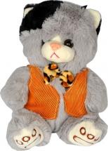Мягкая игрушка TashaToys Кот в жилетке 22 см