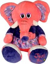 Мягкая игрушка TashaToys Слоник в платишке 22 см